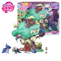 Hasbro My Little Pony Set Toy Movie&TV Toy PVC Action Figure Golden Oak Library Collection Birthday Gift for Children