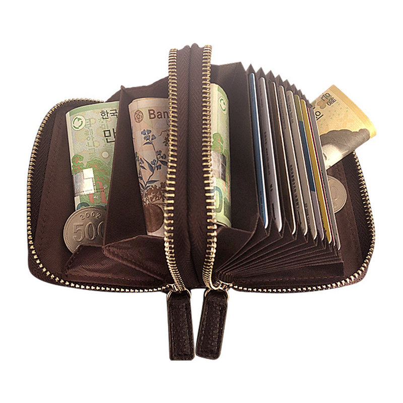 Women PU Leather Multi layer Portable Wallet Organ Bag Mini Pocket Purse Credit Card Pouch Hot Sale in Storage Bags from Home Garden
