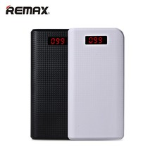 Remax energía móvil banco 30000 mah 2 led usb poderes de copia de seguridad cargador portátil de batería externa universal para iphone 6 s plus samsung