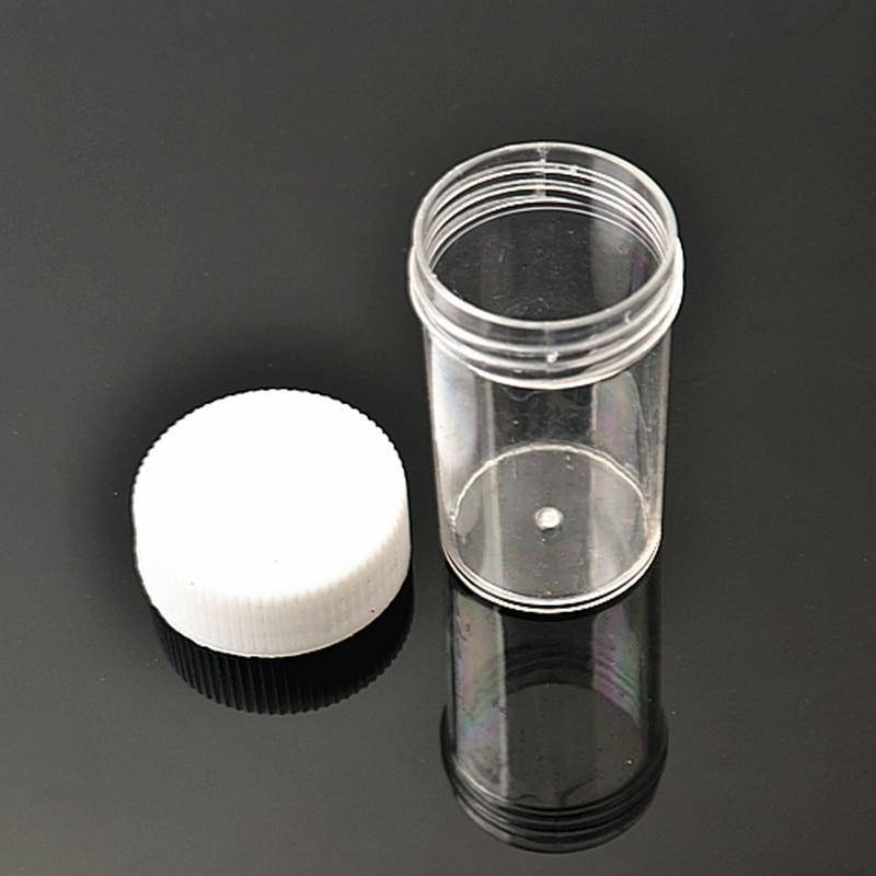 50pcs Plastic Portable Cosmetic Empty Jar Pot Box Makeup Nail Art Bead Storage Container Round Bottle Transparent Cream M02338