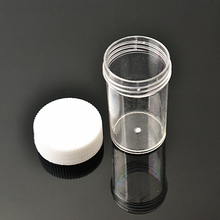 50pcs פלסטיק נייד קוסמטי ריק צנצנת סיר תיבת איפור נייל אמנות חרוז אחסון מיכל עגול בקבוק שקוף קרם M02338cosmetic empty jar potcosmetic emptycosmetic empty jar