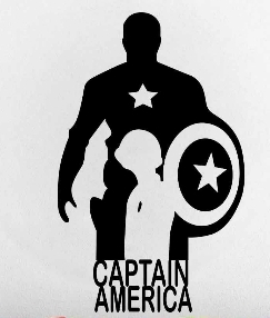 Captain America Wall Sticker The Avengers Super Hero Captain Vinyl - Vinyl wall decals avengers
