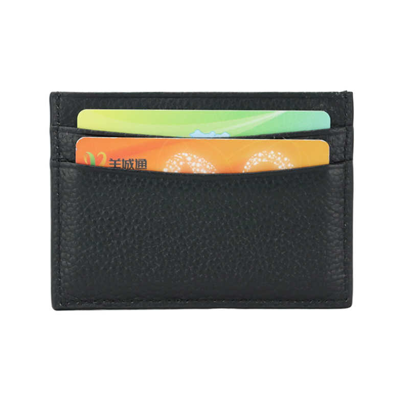 09ac1b949239 Genuine cow leather pebble leather customed initial letters credit card  case ID card holder card wallet