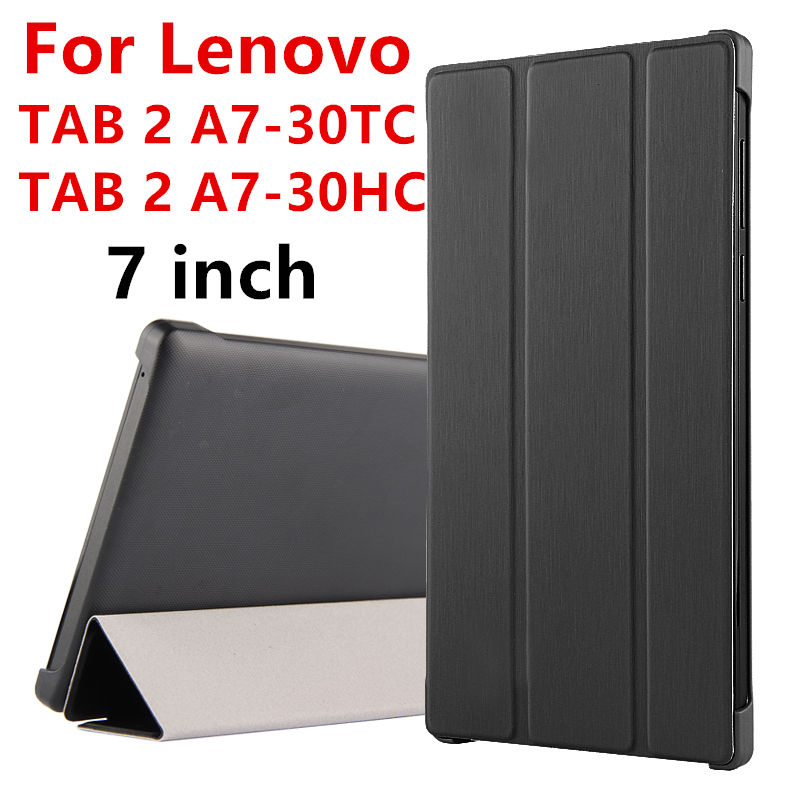 все цены на Case For Lenovo TAB 2 A7-30 Protective Smart cover Leather Tablet For TAB2 A7-30HC TAB 2 A7-30TC 7 inch PU Protector Sleeve Case