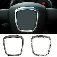 Brand New Chrome ABS Sticker Steering Wheel Sticker Emblem Logo Frame Trim Decorative Accessories For Audi