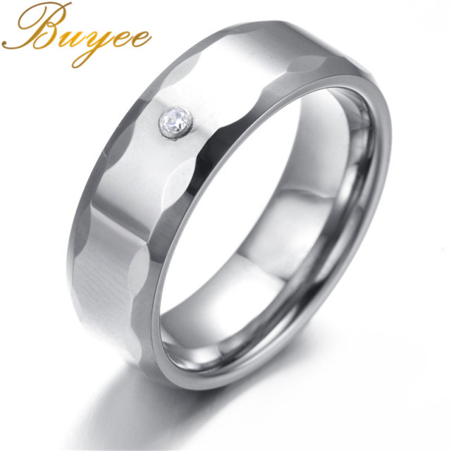 Ee Biker Ring Silver Color Tungsten Rock Punk Women Female Jewelry Gift Rings Trendy Wedding