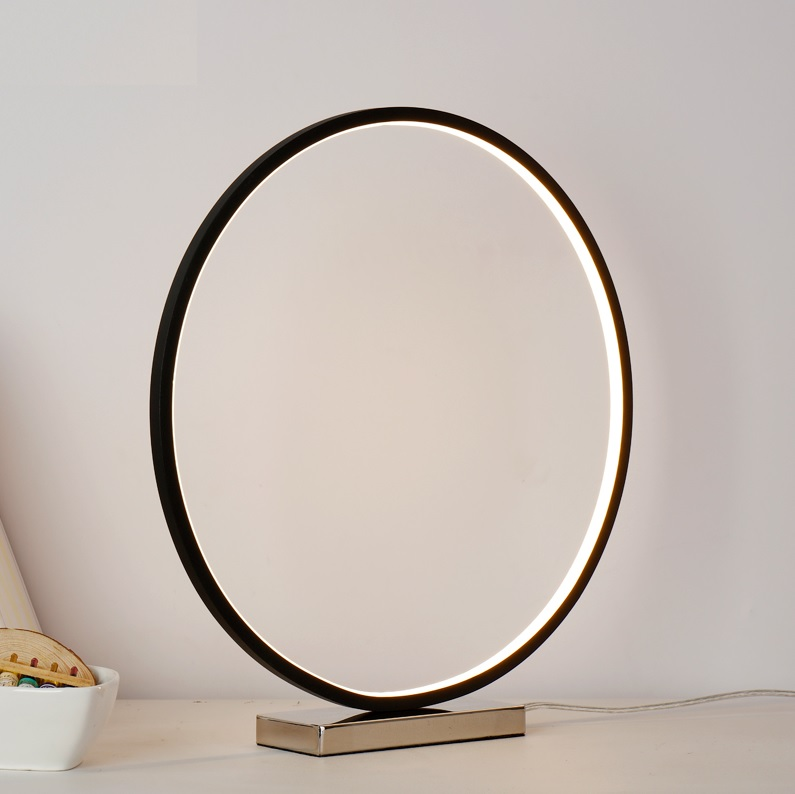 12W 45cm Ring Table Lamp, Dimming Flat LED Lights