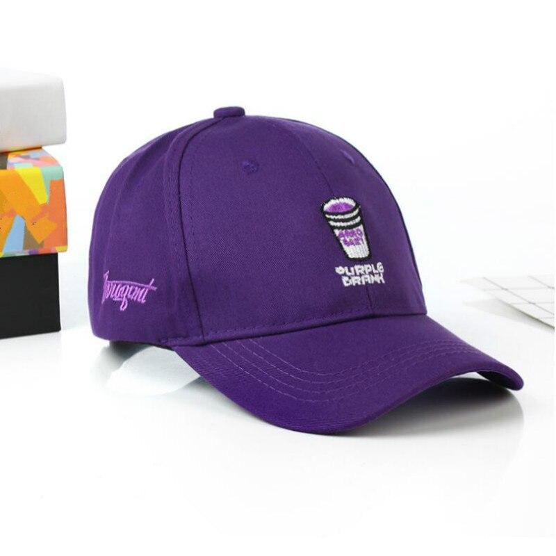 Embroidered Brand Purple Drank Dad Hat For Women Adjustable Cotton Cup   Baseball     Cap   Hip Hop Summer K Pop Snapback Hat Men   Cap