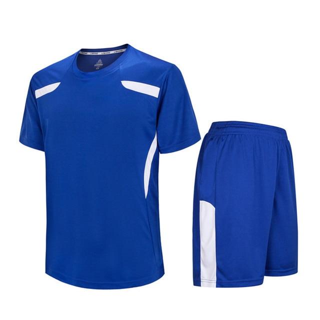 ce62e9e1c9ddf 2018 niños Niños fútbol Camisetas de Soccer uniformes futbol entrenamiento  transpirable Jersey conjuntos camisas Pantalones DIY