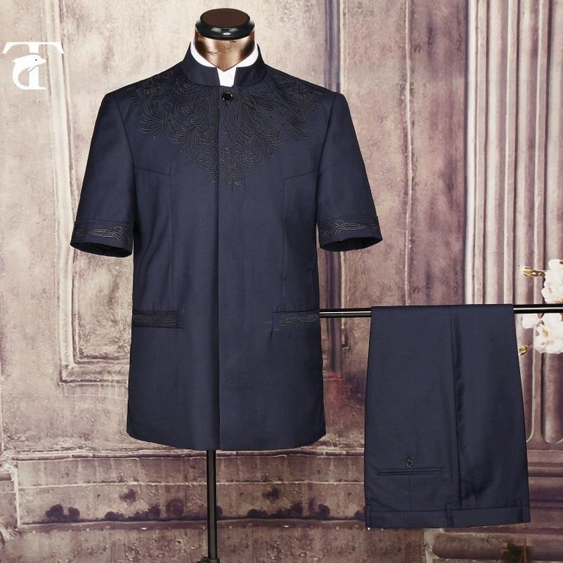 2016 été manches courtes blazer veste en gros vêtements blazer - Vêtements pour hommes - Photo 5