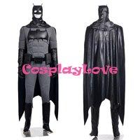 Новый индивидуальный заказ Высокое качество Америка фильм Бэтмен Брюс Уэйн супергероя Косплэй костюм для Хэллоуина Рождество