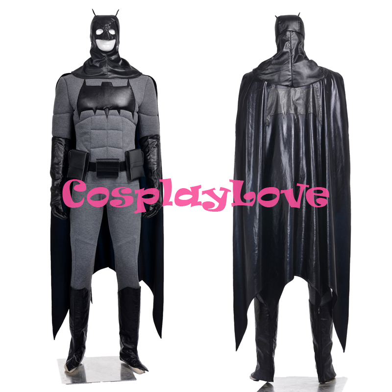 New Custom Made High Quality America Movie Batman Bruce Wayne Superhero Cosplay Costume For Halloween Christmas