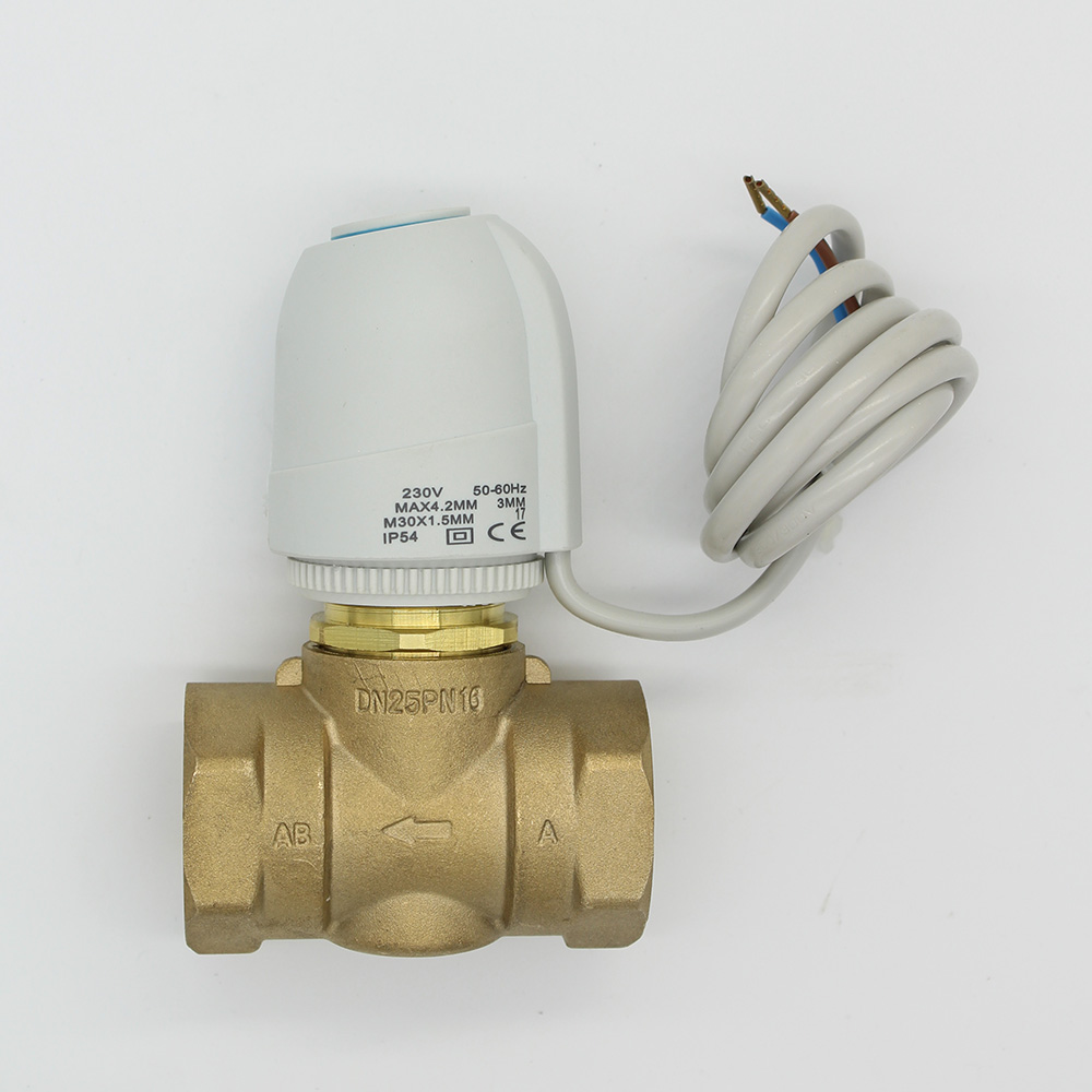 230V 24V  Normally Open  Normally close  Electric Thermal Actuator for room temperature control brass  valve DN20-DN25 24v normally open normally close electric thermal actuator for room temperature control three way valve dn15 dn25
