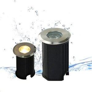 Image 2 - Wodoodporne światło led ogród podziemny RGB 3W DC12V IP67 na zewnątrz pochowany ścieżka ogrodowa Spot wpuszczone oświetlenie wewnętrzne AC110V 230V