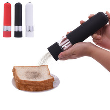 Salt And Pepper Mills Novel Salt & Pepper & Spice Grinders Red White Black Electric Pepper Mill Creative Kitchen Tools