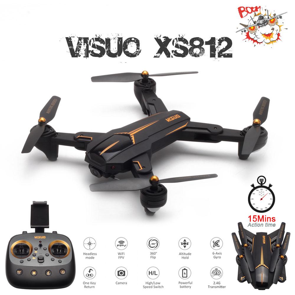 VISUO XS812 GPS RC Drone avec 2MP HD caméra 5G WIFI FPV Altitude tenir une clé retour RC quadrirotor hélicoptère VS 809 XS809S E58