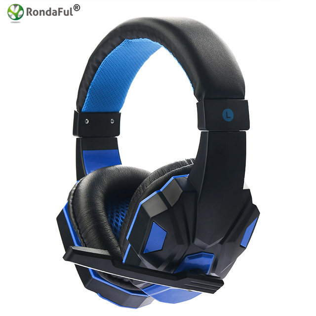 Hot Calidad Estéreo Surround Gaming Headset 3.5mm Wired Auriculares con Micrófono para PC Computer Gamer Over Ear NFC