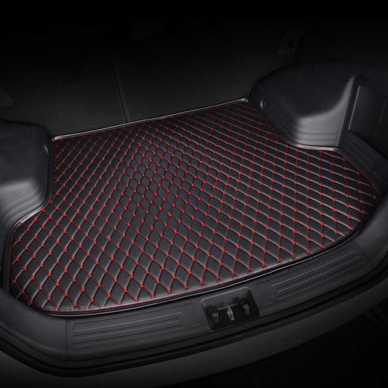 Kalaisike Kustom Bagasi Mobil Tikar untuk Cadillac Semua Model SRX CTS Escalade ATS CT6 XT5 CT6 Atsl XTS SLS Mobil aksesoris Styling