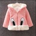 2017 девушки Зима младенческой ребенок наряды толстые теплые куртки пальто для ребенка девочек одежда мультфильм Махровые хлопок куртки верхняя одежда