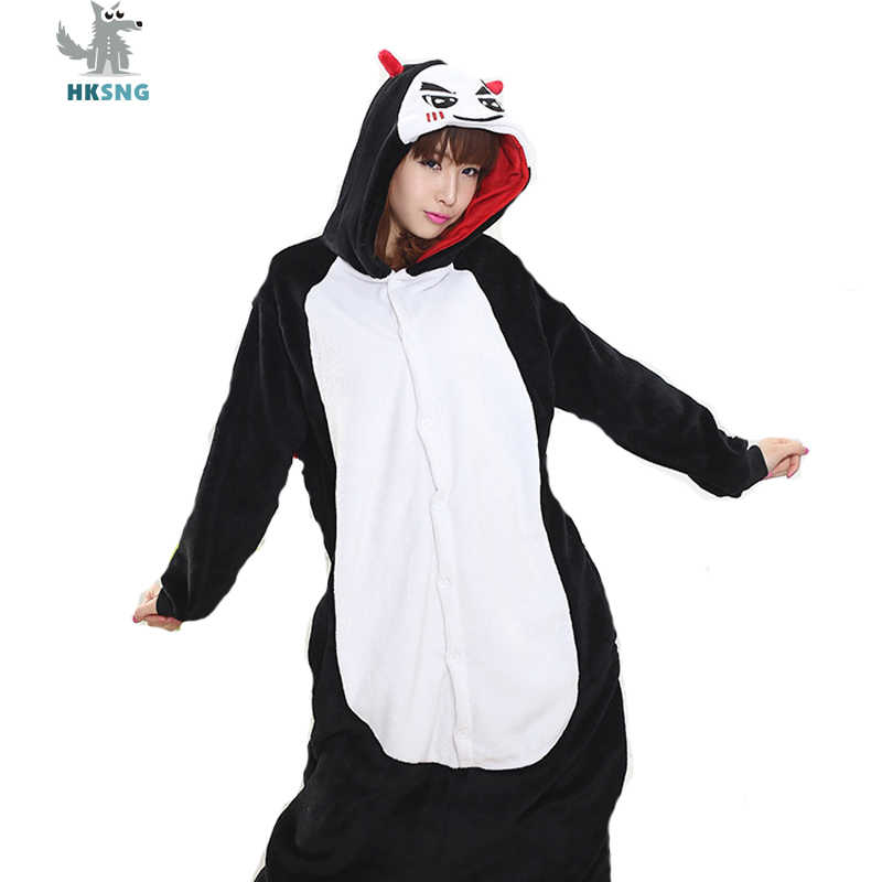 HKSNG Adult Devil Pajamas High Quality Flannel Cartoon Onesies Halloween Party Cosplay Costumes Jumpsuits Pyjamas Kigurumi