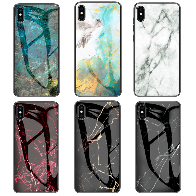 <font><b>For</b></font> <font><b>iphone</b></font> <font><b>X</b></font> 7 8 Plus <font><b>XS</b></font> Luxury Marbled Tempered glass <font><b>Armor</b></font> <font><b>case</b></font> <font><b>For</b></font> <font><b>iphone</b></font> <font><b>XS</b></font> <font><b>Max</b></font> 6 6S Plus 11 Pro <font><b>Max</b></font> Back Cover <font><b>Case</b></font> Coque image