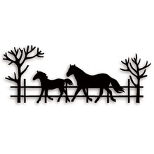 Ufurty Metal Cutting Dies Country Life Horse Stitched DIY Scrapbooking Stamps Craft Embossing Die Cut Making Stencil Template(China)