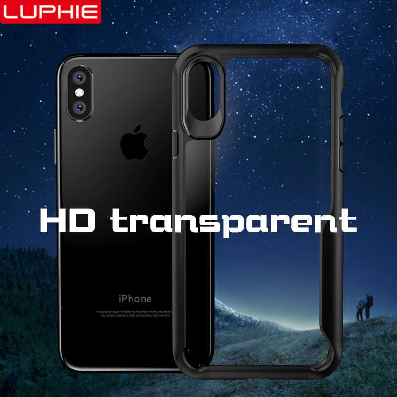 جراب حماية ضد الصدمات من LUPHIE لهاتف iPhone X XS Max XR 8 7 Plus جراب شفاف لهاتف iPhone 11 Pro MAX 6 6S Plus 5s من السيليكون