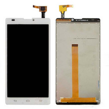 top quality LCD Display Touch Screen Digitizer assembly replacement For ZTE blade L2 white цена