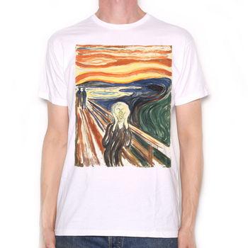 Edvard Munch camiseta-el grito clásico bonito arte camiseta Full Coloursummer cuello redondo tee, envío gratis, camiseta barata, 2019 hot tees