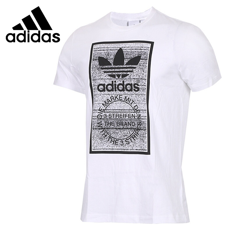 Original New Arrival 2018 Adidas Original Traction Tongue Men's T-shirts short sleeve Sportswear converse short tongue