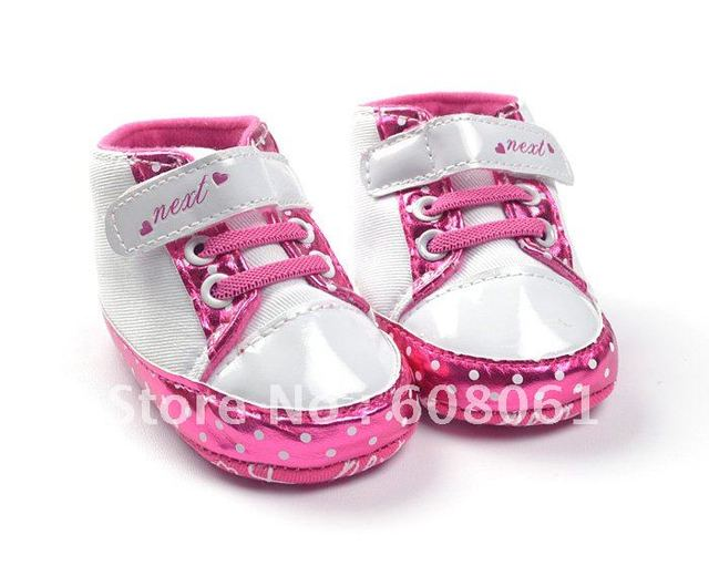 Free Shipping Hot sale Pink Baby Shoes Girls Toddler Soft Sole 3pair/lot