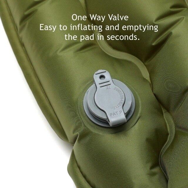 2019 New Sleeping Pad With Pillow Air Bag Hand Press Wave Shaped Inflating Camping Mattress Ultralight Outdoor Hiking Tent Mats 5
