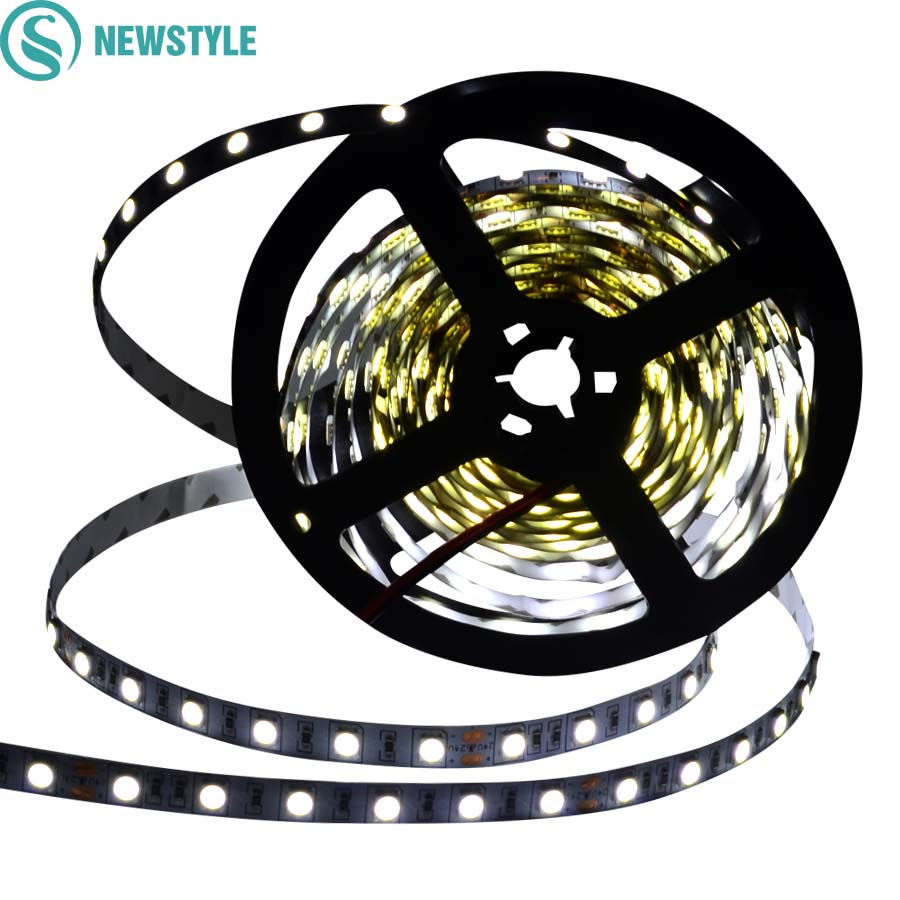 DC24V Led Strip 5050 SMD 5M 300led 60led/M White/Warm white/Cool white  Flexible Fed Ribbon Non-waterproof Indoor Decoartion