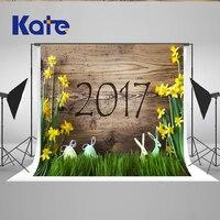 5x7ft Новый 2017 Кейт пасхальные фон фотографии деревянные стены фотостудия Фоны новорожденных реквизит для фотографии