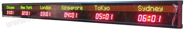 Led đồng hồ treo tường (6 thành phố thế giới thời gian đồng hồ)
