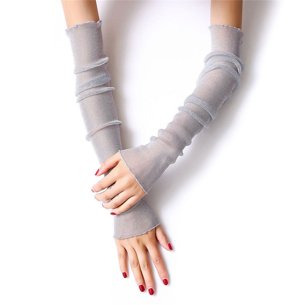 Armstulpen Ehrlichkeit Frauen Mädchen Sommer Chic Ultra Dünne Spitze Lange Arm Handschuhe Seide Anti-uv Sonnenschutz Mutizweck Bein Arm Abdeckungen Fingerlose Fäustlinge