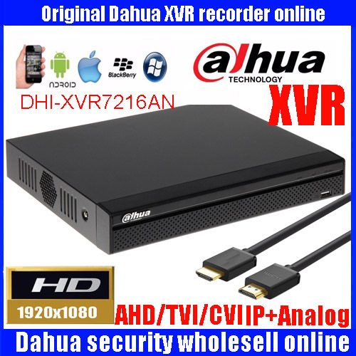 Dahua XVR video recorder 16ch 1080P replace NVR and DVR XVR7216AN P2P Support HDCVI/ AHD/TVI/CVBS/IP 1U Digital Video Recor