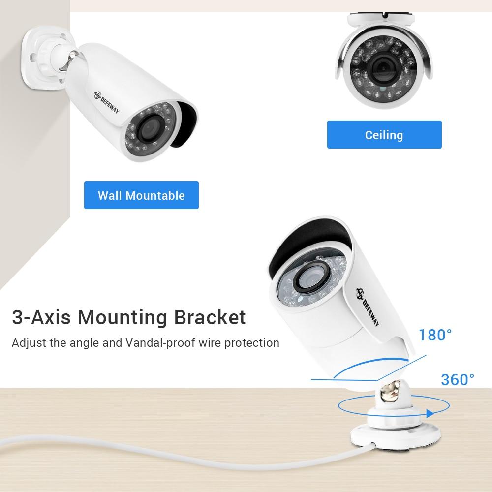 DEFEWAY Kiti Kamera Video Gözetim 1080 P CCTV Sistemi 8CH Gözetim - Güvenlik ve Koruma - Fotoğraf 2