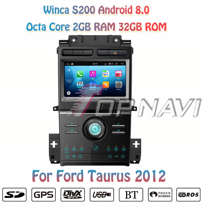 Topnavi 8'' Octa Core S200 Android 8.0 Car DVD Multimedia Player For Ford Taurus 2012 Radio Stereo 2DIN GPS Navigation Video