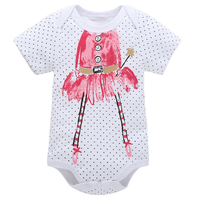 1463e2bb7 0-12M Newborn Girls Rompers Toddler Clothing Summer Cotton Romper Clothes  Jumpsuit Infant Red Fairy Cartoon Baby Playsuit Girl