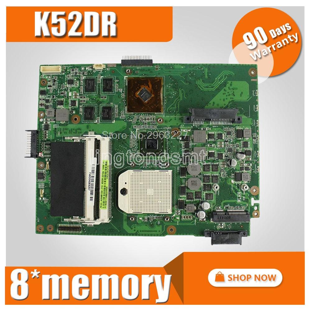 K52DR Motherboard HD5470 8pcs memory For ASUS A52DE K52DE A52DR Laptop motherboard K52DR Mainboard K52DR Motherboard test OK for asus k52 x52j a52j k52j k52jr k52jt k52jb k52ju k52je k52d x52d a52d k52dy k52de k52dr audio usb io board interface board