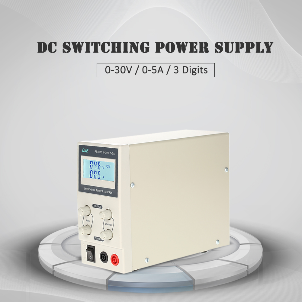 0-30V 0-5A 3 Digits Regulated DC Switching Power Supply LCD Digital voltage regulator Variable Adjustable Output Voltage Current 50pcs xc6206p332mr 662k 3 3v 0 5a positive fixed ldo voltage regulator sot 23