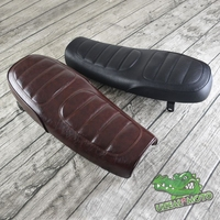 630mm HIGH Quality Universal Vintage Motorcycle Seat Cushion Grid Brown Classic Motorbike Handwork seat MASH125 MUTT125 250