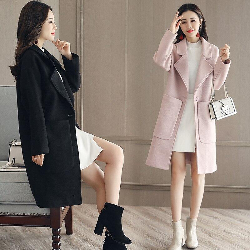 1 manteau femmes grande taille revers longue 2018 3. Black Bedroom Furniture Sets. Home Design Ideas