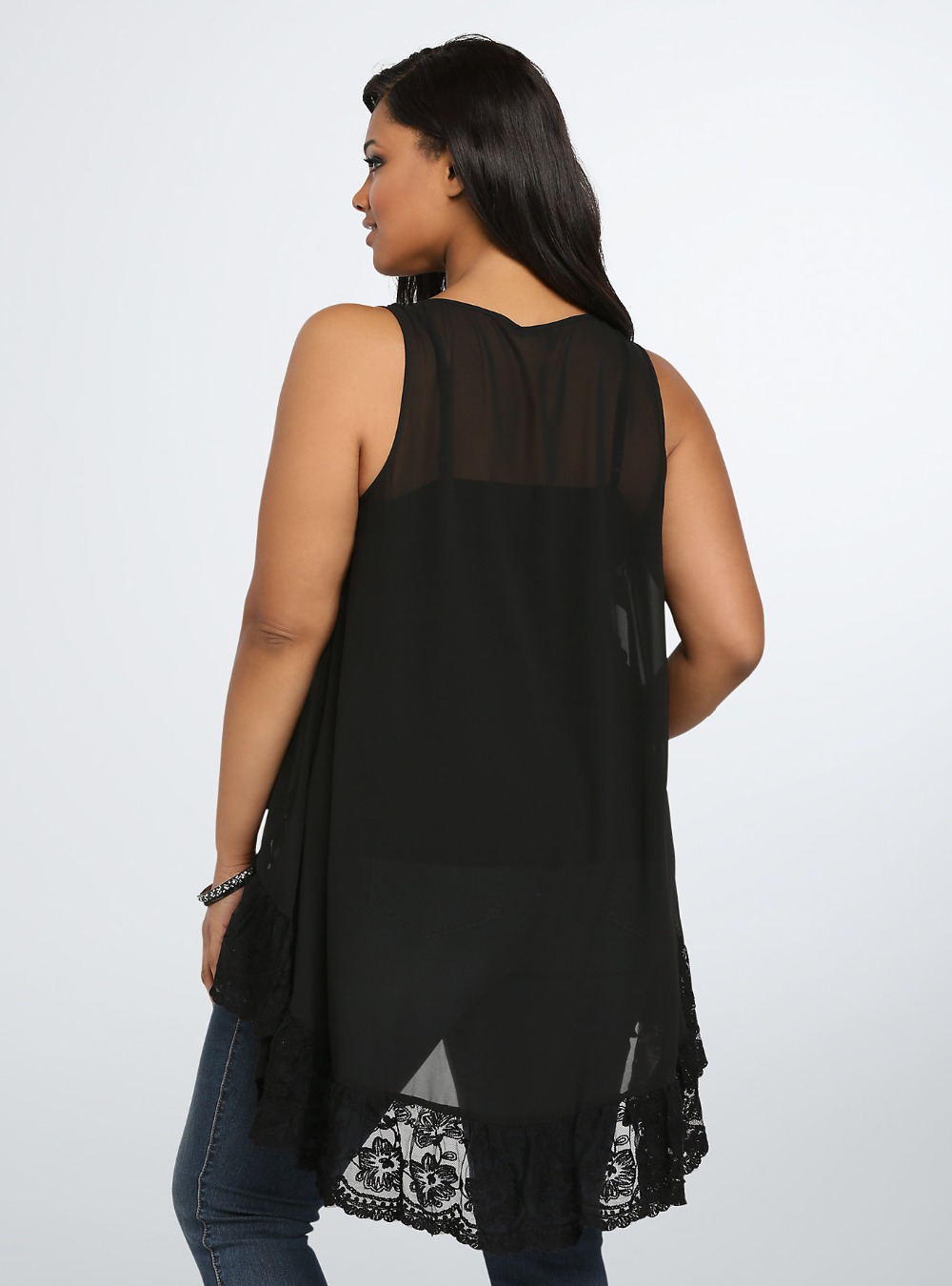 Black Summer Blouses - Breeze Clothing-4579