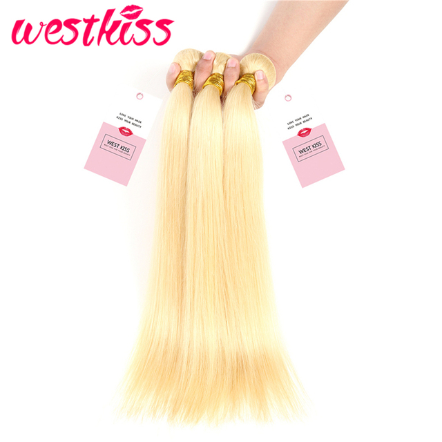 West Kiss Hair 613 Blonde Bundles Brazilian Straight Hair Weave 10