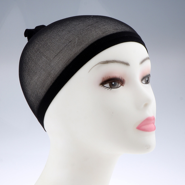 100Pcs Wholesale Breathable Black Spandex Dome Cap Mesh Hair Net for Making Wigs Snood Stretchy Wig Cap 2