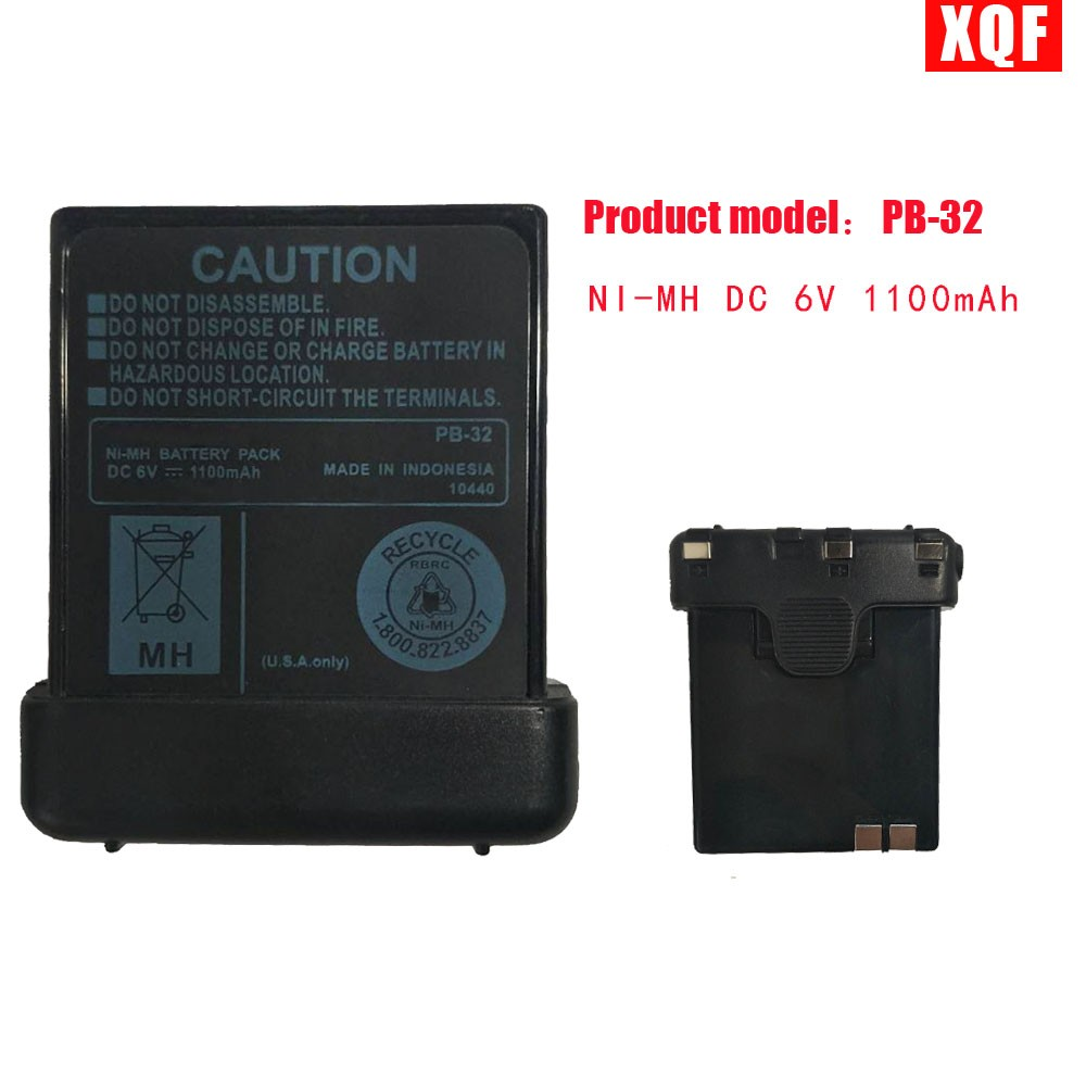 XQF NI-MH DC 6V 1100mAh Battery For KENWOOD Radio TH-22 TH-22A TH-22AT TH-22E TH-42 TH-42A TH-79 TH-208