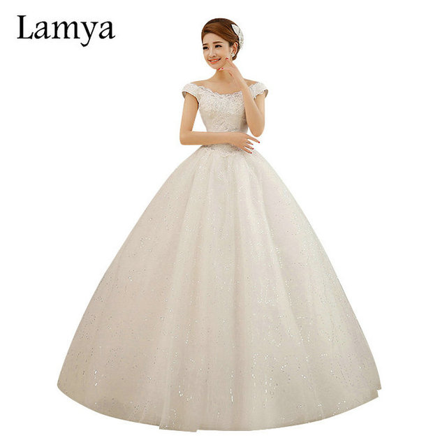 LAMYA Custom size Cheap Princess Lace V neck Wedding Dress Vintage ...
