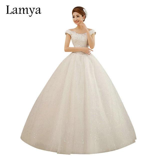Estilo Novia Princesa Barato Personalizado De Encaje Lamya Vestido Cuello Tamaño Vintage V 2018 qH7T0wSx